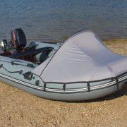 """Фото Тент носовой на лодку Пилот """"М-300"""" – """"М-320"""" зеленый"""