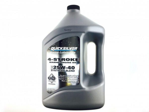 Фото Масло 4-х тактное Quicksilver для всех моторов синтетическое 25W40 (4л)