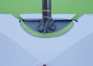Фото Клапан огнеупорный для палаток серии Лотос Куб (кремнезем 1000°С)
